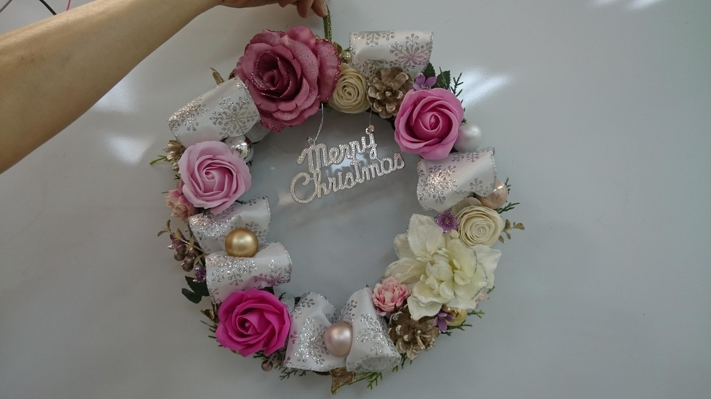 キラキラクリスマスリース